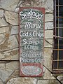 Faded Seafood Menu, Holyhead - panoramio.jpg