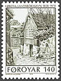Faroe stamp 034 old national library.jpg