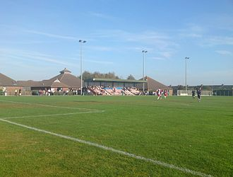 New Milton Town F.C. - Fawcett's Field, during a league match versus Poole Town.