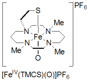 High-valent iron - thiolate-ligated oxoiron(IV)