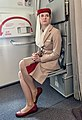 Female flight attendant of Emirates airline.jpg