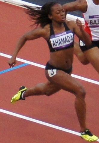 Comoros at the 2012 Summer Olympics - Feta Ahamada competing the women's 100 metres.