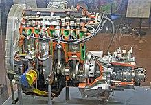 fiat 128 sohc engine cut apart 1 581 cc version of the 128 engine