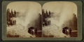 Fifteen-minute display of 'Riverside Geyser' – boiling water 100 feet in air – Yellowstone Park, U.S.A, by Underwood & Underwood.png