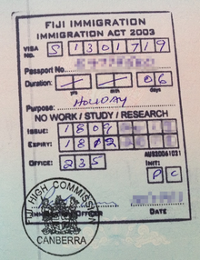 Visa Policy Of Fiji Wikipedia