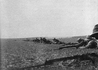 Battle of Rafa - Image: Firing line at the Battle of Rafa 1917