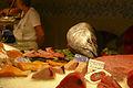 Fish stall at Barcelona market (2929377413).jpg