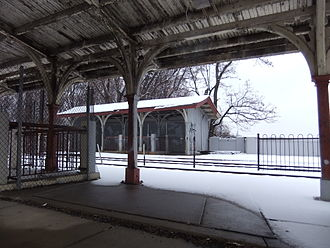 Fishers station - Fishers Station looking west from the inbound platform.