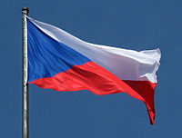 Flag of the Czech Republic 2007 Prague.jpg