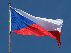 National symbols of the Czech Republic - National flag of the Czech Republic, which was also national flag of former Czechoslovakia
