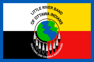 Little River Band of Ottawa Indians - Flag of the Little River Band of Ottawa Indians.