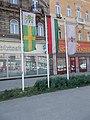 Flagpoles, Baross square, 2018 Józsefváros.jpg