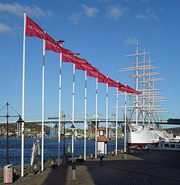 Flags outside Göteborg Opera.jpg