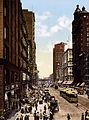 Flickr - …trialsanderrors - State Street north from Madison Street, Chicago, Illinois, 1900.jpg