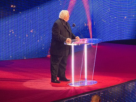 Rhodes at the 2012 WWE Hall of Fame ceremony, inducting the Four Horsemen Flickr - simononly - WWE Hall of Fame 2012 - The Four Horsemen.jpg