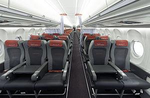 Fokker 70 - Cabin of a former Austrian Airlines F70