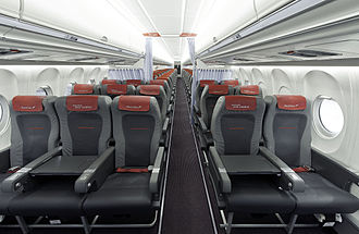 Fokker 70 - Cabin of a former Austrian Airlines F70