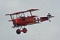 Fokker Dr.I Manfred Richthofen Pass three 02 Dawn Patrol NMUSAF 26Sept09 (14413496507).jpg