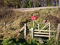 Footpath by the railway embankment, Colwall - geograph.org.uk - 1075242.jpg