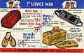 For Service Men, Ditty Bag, Barracks Slippers, Money Belt, Fold-it, Carroll Dorn Mfg, Co (NBY 7130).jpg