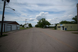 Forbes, North Dakota - Street in Forbes