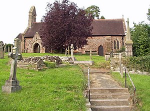 Ford, Shropshire - Image: Ford Church and Yard in Shropshire geograph.org.uk 344573