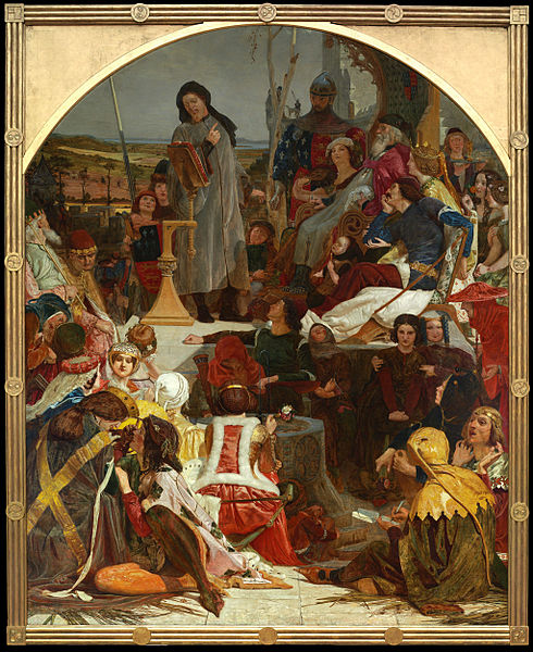 Archivo: Ford Madox Brown - Chaucer en la corte de Eduardo III - Google Art Project.jpg