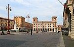Forlì, piazza aurelio saffi, poste e telegrafi 01.jpg