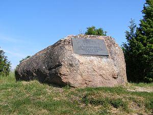 Bengt Gottfried Forselius - Memorial stone for Bengt Gottfried Forselius in his birthplace, Harju-Madise