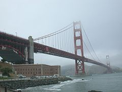 Fort Point under the Golden Gate Bridge.JPG