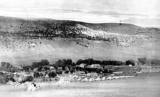 Fort Stanton - Early photograph of Fort Stanton.