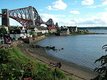 English: Forth Bridge from North Queensferry Y...