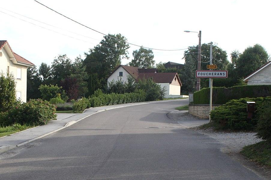 Entrée de Foucherans (Doubs).