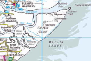 Foulness - Map of Foulness Island