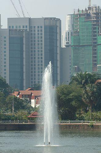 Lake Gardens, Kuala Lumpur - A fountain in Lake Gardens, Kuala Lumpur