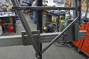 Jig (tool) - A bicycle frame building jig