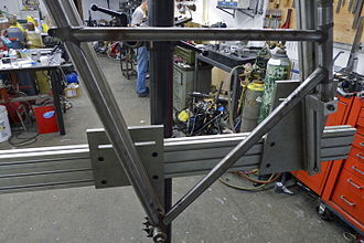 Jig (tool) - A bicycle frame building jig