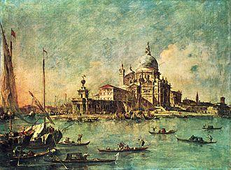 Punta della Dogana - View of Punta della Dogana by Francesco Guardi, c. 1782
