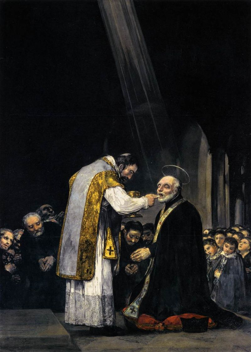 Francisco de Goya y Lucientes - The Last Communion of St Joseph of Calasanz - WGA10088.jpg