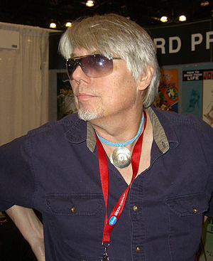 Frank Brunner - Brunner at the Vanguard booth New York Comic Con in February 2008