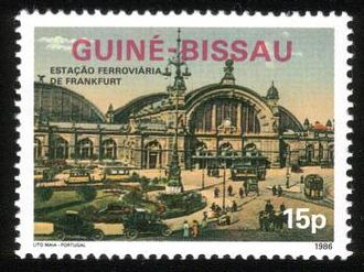 The Hauptbahnhof Briefmarke of Guinea-Bissau