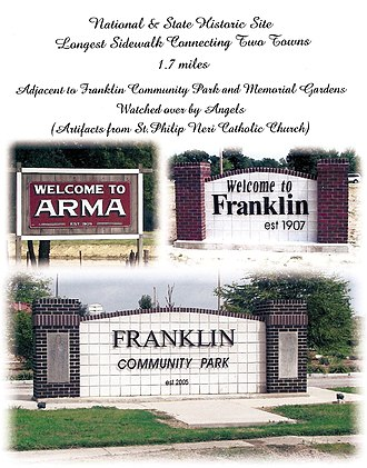 National Register of Historic Places listings in Crawford County, Kansas - Image: Franklin Arma Historic Sidewalk
