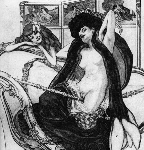 File:Franz von Bayros Le jardin d'Aphrodite.jpg