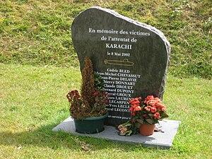 2002 Karachi bus bombing - Memorial in Cherbourg, France