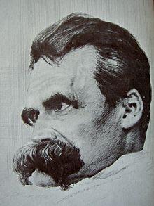 Retrato de Nietzsche porHans Olde, alrededor de 1899.
