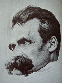 Friedrich Nietzsche drawn by Hans Olde
