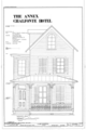 Front Elevation - Chalfonte Hotel, Annex, Howard Street and Sewell Avenue, Cape May, Cape May County, NJ HABS NJ-743-C (sheet 1 of 1).png