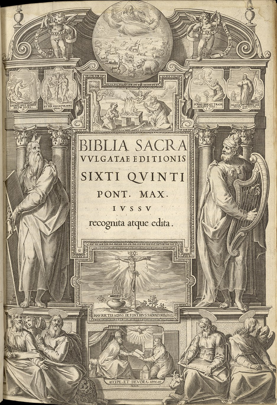 Frontispiece of the Sixto-Clementine Vulgate (1592)