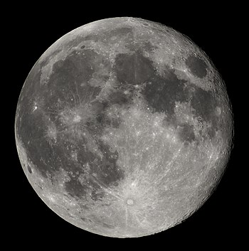 Full Moon view from earth In Belgium (Hamois)....