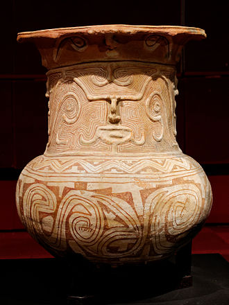 Marajoara culture - Funerary urn, Collection H. Law